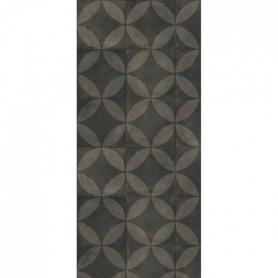 HELIO Tapis 100% vinyle - 50 x 112,5 cm - Gris anthracite et noir