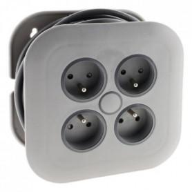 ZENITECH Enrouleur domestique 4 prises 2P+T 16A + coupe-circuit