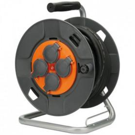 ZENITECH Enrouleur de chantier IP44 - 4 prises 16A - 3G1,5mm² - 25 m