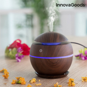 Mini humidificateur diffuseur d'arômes Dark Walnut InnovaGoods