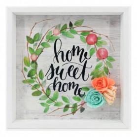 Cadre Home Sweet Home (21 x 21 x 2 cm) 115773