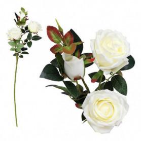 Branche de 3 Roses 113250 Blanc (60 Cm)