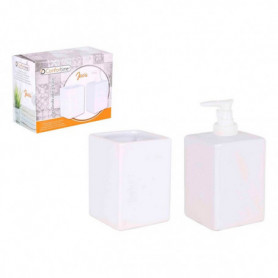 Ensemble de Bain Java Confortime Blanc Carré (2 Pcs)