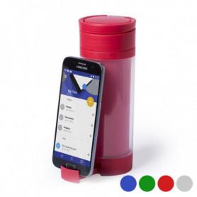 Gourde en Polypropyplène avec Support pour Téléphone Portable (390 ml)