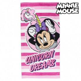Serviette de plage Minnie Mouse 75493 Coton Rose