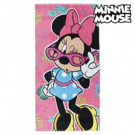 Serviette de plage Minnie Mouse 75494 Coton Rose