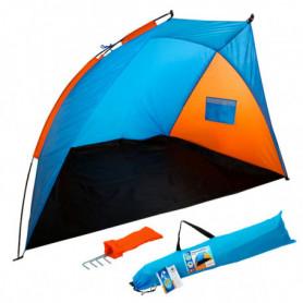 Paravent Beach Bleu Orange (200 X 125 x 120 cm)
