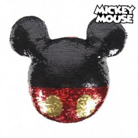 Coussin Sirène Magique à Paillettes Mickey Mouse 74490 Rouge (30 X 30)
