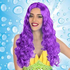 Perruque avec Cheveux Bouclés Violet 111237