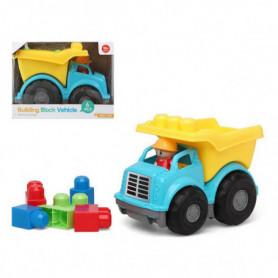 Camion avec blocs de construction 114607 Bleu Jaune (6 Pcs)