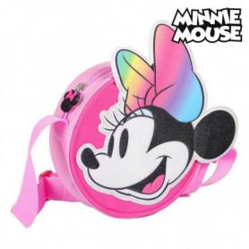 Sac à Bandoulière 3D Minnie Mouse 72883 Rose