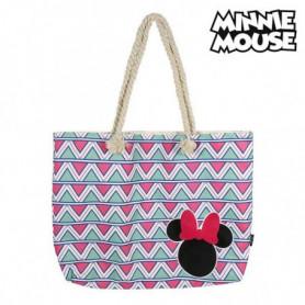 Sac de plage Minnie Mouse 72927 Rose Coton