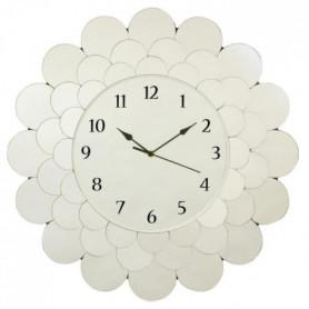 FLEUR Horloge circulaire 55 cm - En verre