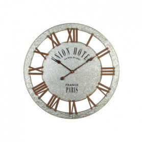 UNION Horloge murale effet métal - Acier - é68x3 cm