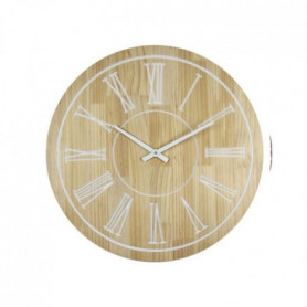 WOOD Horloge murale effet bois - Ø60cm