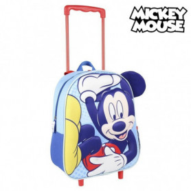 Cartable 3D avec roulettes Mickey Mouse