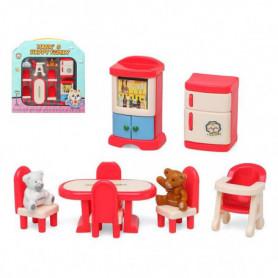 Accessoires pour maisons de poupées Happy Family Dining Room