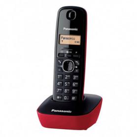 Téléphone Sans Fil Panasonic KX-TG1611SPR Rouge