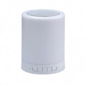 Haut-parleur Bluetooth avec Lampe LED CoolBox COO-BTALED-R1 3W Blanc