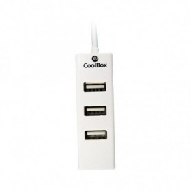 Hub USB 3 Ports CoolBox HUBCOO190 Blanc