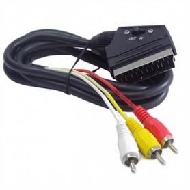 Câble 3 x RCA vers Euroconnecteur GEMBIRD CCV-519-001 Noir