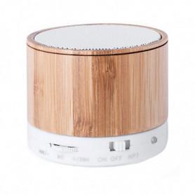Enceinte Bluetooth Sans Fil USB FM 3W Bambou 146143