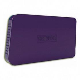 """Boîtier pour disque dur approx! appHDD05P 2,5"""" USB 2.0 Pourpre"""