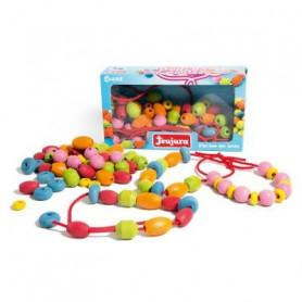 JEUJURA Perles en bois - Coffret de 90 perles