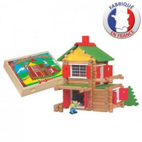 JEUJURA Mon chlet en bois - 135 pieces - Coffret