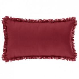 Coussin Frange - 30 x 50 cm - Rouge