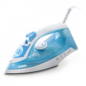 DOMO DO7054S Fer à repasser à vapeur 100 gr/mn 2000W - Blanc/Bleu