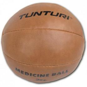 TUNTURI Medicine Ball - Cuir - 2kg