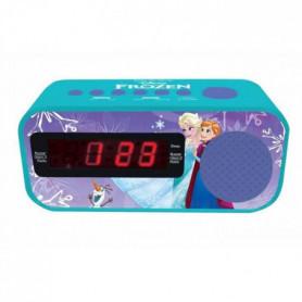 LA REINE DES NEIGES Radio réveil fonction Snooze, adaptateur AC