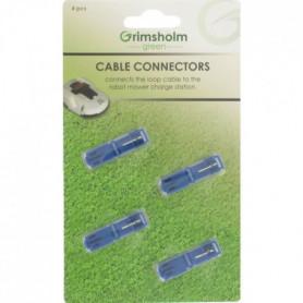 JARDIN PRATIC Jeu 4 raccords de connexion câble/chargeur à sertir