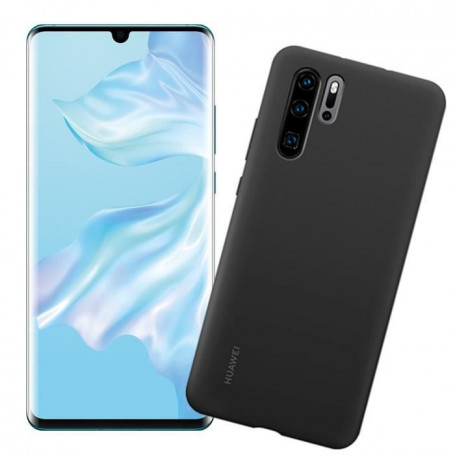 HUAWEI Smartphone P30 Crystal + Coque Bleu