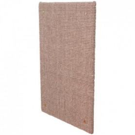 TRIXIE Griffoir XXL - Tapis en sisal / Catnip - 50 x 70 cm - Taupe