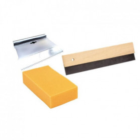 MEJIX Kit pose joint : éponge, raclette, peigne V5x5