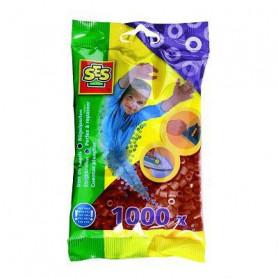 SES CREATIVE Lot de 1000 perles à repasser - Marron