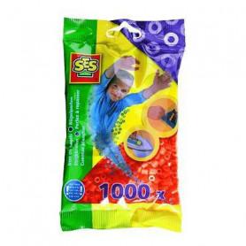 SES CREATIVE Lot de 1000 perles à repasser - Orange