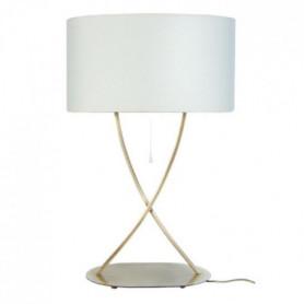 ELéGANCE Lampe a poser acier carré 40x40x65 cm