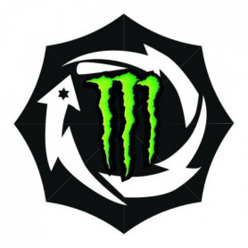 GP MOTORS Parapluie Monster JL - Noir et Vert