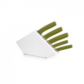 YONG Bloc a couteau + 5 couteaux Pro Knife - Inox