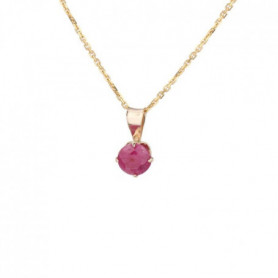 OR ECLAT Collier Or 375° Rubis