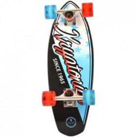 "KRYPTONICS Skateboard Mini Fat Cruiser Star 23"""