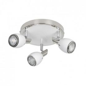 FIFTIES Spot 3 lumieres LED - H 27 cm - Blanc