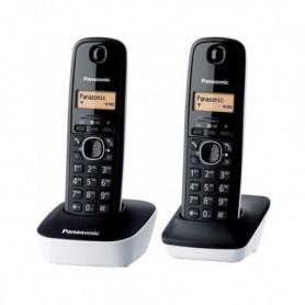 Panasonic KX-TG1612FRW Duo Téléphone Sans Fil Sans Répondeur