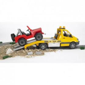 BRUDER - 2535 - Camion Depannage Mercedes & Jeep