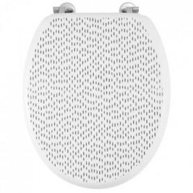 GELCO DESIGN Abattant WC Dash - Charnieres inox - MDF