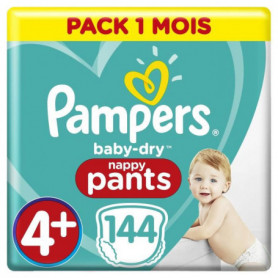 PAMPERS BABY-DRY PANTS Taille 4+ - 144 couches