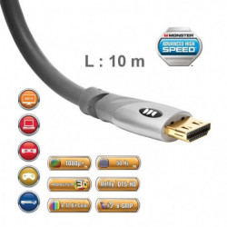 Câble HDMI UHD Monster Gold 10 m